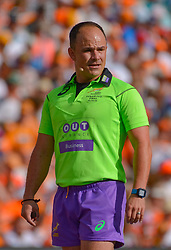 Referee: Jaco Peyper during the Currie Cup Final between the The Free State Cheetahs and Blue Bulls held at Toyota Stadium (Free State Stadium), Bloemfontein, South Africa on the 22nd October 2016<br /> <br /> Photo by:   Frikkie Kapp / Real Time Images