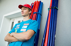 Klemen Kosi at departure of Slovenian Men Ski Team to training camp in Argentina and Chile on August 21, 2014 in SZS, Ljubljana, Slovenia. Photo by Vid Ponikvar / Sportida.com