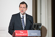 Mariano Rajoy, Spain's president speaks to audience