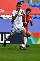 Football - 2020 / 2021 UEFA Nations League - Group B4 - Wales vs Bulgaria<br />      <br /> Birsent Karagaren of Bulgaria on the attack<br /> in a match played with no crowd due to Covid 19 coronavirus emergency regulations, in an almost empty ground, at the Cardiff City Stadium.<br /> <br /> COLORSPORT/WINSTON BYNORTH