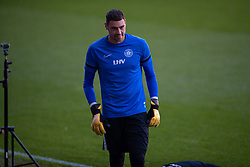 CARDIFF, WALES - Tuesday, September 7, 2021: Estonia's goalkeeper Matvei Igonen during a training session at the Cardiff City Stadium ahead of the FIFA World Cup Qatar 2022 Qualifying Group E match between Wales and Estonia. (Pic by David Rawcliffe/Propaganda)