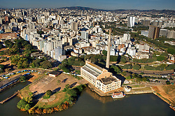 Vista aérea da Usina do Gasômetro, em Porto Alegre. FOTO : Jefferson Bernardes/Preview.com