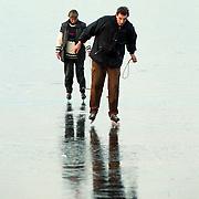 Personen door het ijs gezakt Gooimeer Stichtse strand Blaricum