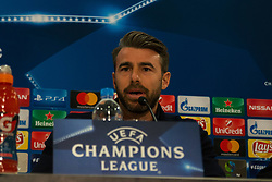December 4, 2017 - Piraeus, Greece - Andrea Barzagli attends a Juventus F.C press conference on the eve of their UEFA Champions League group D match against Olympiakos Piraeus at Karaiskaki Stadium  in Athens, Greece. (Credit Image: © Dimitris Lampropoulos/NurPhoto via ZUMA Press)