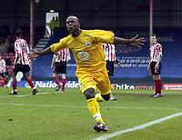 Picture: Henry Browne.<br /> Date: 26/12/2003.<br /> Brentford v Bristol City Nationwide League Division 2.<br /> Leroy Lita celebrates after scoring the equaliser for City.