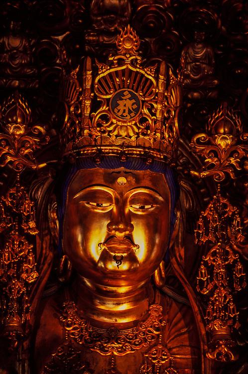 Sitting image of Buddha, Kompon-Daito (great central pagoda), Danjogaran (Sacred Precinct)