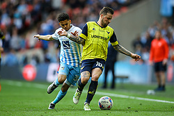 Chris Maguire of Oxford United under pressure from Dion Kelly-Evans of Coventry City - Photo mandatory by-line: Jason Brown/JMP -  02/04//2017 - SPORT - Football - London - Wembley Stadium - Coventry City v Oxford United - Checkatrade Trophy Final