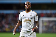 Andre Ayew of Swansea city looks on. Barclays Premier league match, Aston Villa v Swansea city at Villa Park in Birmingham, the Midlands on Saturday 24th October 2015.<br /> pic by  Andrew Orchard, Andrew Orchard sports photography.
