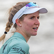 Sophie Deans , Cambridge Womens crew.<br /> <br /> Crews prepare for Sunday's 165th Boat Race between Oxford and Cambridge, River Thames, London, Friday 5th April 2019. © Copyright photo Steve McArthur / www.photosport.nz