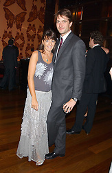KRIS THYKIER and CLAUDIA WINKLEMAN at a party to celebrate the publication of Air Babylon by Imogen Edwards-Jones held at Fifty, 50 St.James's Street, London SW1 on 4th July 2005.<br /><br />NON EXCLUSIVE - WORLD RIGHTS
