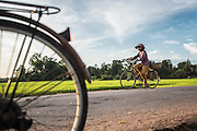 People of all ages use bicycles as a main form of transportation in rural and urban areas in Cambodia.