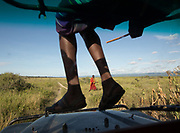 A Masai man, on the road through Hadza country.