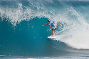 Defending event champion Michel Bourez of Tahiti will surf in Round Two of the 2017 Billabong Pipe Masters after placing second in Heat 9 of Round One at Pipe, Oahu, Hawaii, USA.