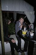 Kristian Mall, Nick Grimshaw, Tropical Colour party to celebrate Le Touessrok. Hempel Hotel London. 12 June 2007.  -DO NOT ARCHIVE-© Copyright Photograph by Dafydd Jones. 248 Clapham Rd. London SW9 0PZ. Tel 0207 820 0771. www.dafjones.com.