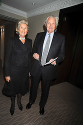 LORD & LADY HESELTINE at the Palace of Varieties in aid of Macmillan Cancer Support held at the InterContinental Hotel, Park Lane, London on 5th February 2009.