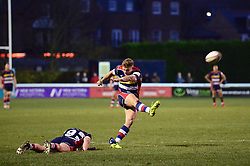Ian Madigan of Bristol Rugby scores a conversion - Mandatory by-line: Dougie Allward/JMP - 30/12/2017 - RUGBY - The Athletic Ground - Richmond, England - Richmond v Bristol Rugby - Greene King IPA Championship