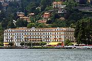 Italy, Lombardy, Lake Como A villa on the shore