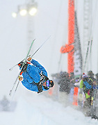 SHOT 12/18/10 11:19:54 AM - Kevin Rolland of La Plagne, France competes during the Ski Superpipe Finals at the Nike 6.0 Open stop of the Winter Dew Tour at Breckenridge Ski Resort in Breckenridge, Co. The event features ski and snowboard slopestyle and superpipe. (Photo by Marc Piscotty / © 2010)