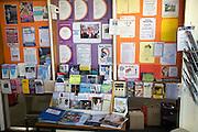 Library community notices, Aldeburgh, Suffolk