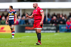 Nick Selway of Jersey Reds - Rogan/JMP - 28/10/2017 - RUGBY UNION - Stade Santander International - St Peter, Jersey - Jersey Reds v Bristol Rugby - Greene King IPA Championship.