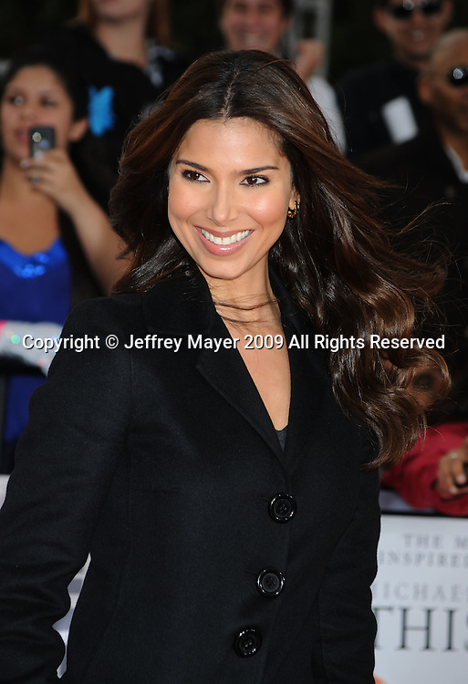 """LOS ANGELES, CA. - October 27: Roselyn Sanchez arrives at the Los Angeles Premiere of """"This Is It"""" held at Nokia Theatre L.A. Live on October 27, 2009 in Los Angeles, California."""