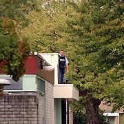 Overval tankstation BP Holleblok Huizen, politie, onderzoek dak