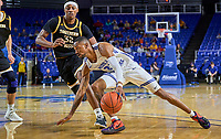 Middle Tennessee Blue Raiders guard C.J. Jones (23) during the Southern Mississippi Golden Eagles at Middle Tennessee Blue Raiders college basketball game in Murfreesboro, Tennessee, Saturday, March, 7, 2020.<br /> Photo: Harrison McClary/All Tenn Sports