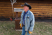 """CREDIT: Steven St. John for The Wall Street Journal<br /> """"ANIMAS""""<br /> <br /> Rancher Lin Blancett, whose cows had to be evacuated because of the Gold King Mine spill, stands next the Well Pump on his land on Tuesday, March 22, 2016"""