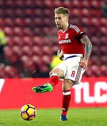 Adam Clayton of Middlesbrough passes the ball - Mandatory by-line: Robbie Stephenson/JMP - 05/12/2016 - FOOTBALL - Riverside Stadium - Middlesbrough, England - Middlesbrough v Hull City - Premier League