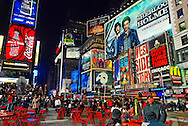 Times Square and Rockefeller Center areas of Manhattan, December 2009