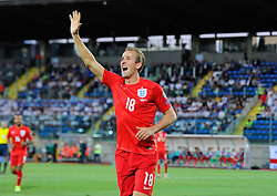 Harry Kane of England (Tottenham Hotspur) celebrates his goal  - Mandatory byline: Joe Meredith/JMP - 07966386802 - 05/09/2015 - FOOTBALL- INTERNATIONAL - San Marino Stadium - Serravalle - San Marino v England - UEFA EURO Qualifers Group Stage