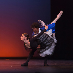 © Licensed to London News Pictures. 08/12/2015. London, UK. Pictured: Majisimo by Jose Garcia performed by Carlos Acosta with Marianela Nunez, Tierney Heap, Yuhui Choe, Anna Rose O'Sullivan, Thiago Soares, Varleri Hristov and Nehemiah Kish. Carlos Acosta performs a Classical Selection at the London Coliseum, 8 to 13 December 2015, presenting highlights from Carlos' career in celebration of twenty-six years as a dancer on the London stage. Photo credit: Bettina Strenske/LNP