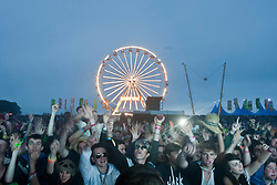 The Chemical Brothers headline the main stage..Rockness, Saturday, 11th June 2011..RockNess 2011, the annual music festival which takes place in Scotland at Clune Farm, Dores, on the banks of Loch Ness near Inverness..Pic ©2011 Michael Schofield. All Rights Reserved..