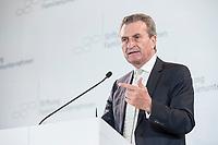 28 JUN 2019, BERLIN/GERMANY:<br /> Guenther Oettinger, EU-Kommissar fuer Haushalt und Personal, haelt eine Rede, Tag des Deutschen Familienunternehmens, Hotel Adlon<br /> IMAGE: 20190628-01-306<br /> KEYWORDS: Günther Oettinger