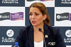 Pressconference HRH Princess Haya of Jordania<br /> Furusiyya FEI Nations Cup Jumping Final<br /> CSIO Barcelona 2013<br /> © Dirk Caremans