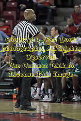 20 November 2013:  Referee James Ford during an NCAA Non-Conference mens basketball game between theJaspers of Manhattan and the Illinois State Redbirds in Redbird Arena, Normal IL