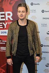Grosvenor House Hotel, London, November 7th 2016. Luminaries from the music industry gather at the Grosvenor House Hotel for the Music Industry Awards, where this year The Who's Roger Daltrey CBE is honored with the 25th annual MITS award in support of Nordoff Robbins and The BRIT Trust. PICTURED: Tom Chaplin.
