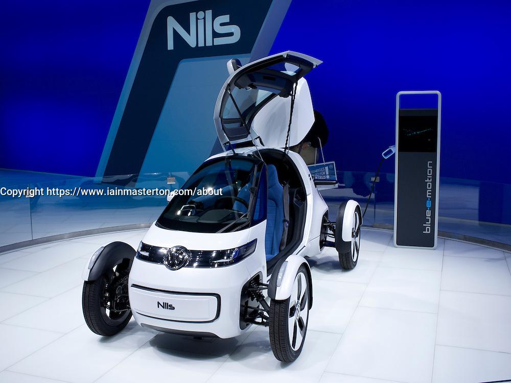 Volkswagen NILS concept electric car at Frankfurt Motor Show or IAA 2011 in Germany