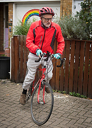 © Licensed to London News Pictures. 01/10/2020. London, UK. Former Labour Party Leader JEREMY CORBYN leaves his London home after it was revealed he went to a dinner party with 8 other people, including his wife, breaking the COVID-19 rule of six. Photo credit: Ben Cawthra/LNP