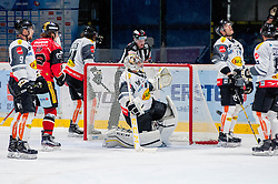 22.10.2016, Ice Rink, Znojmo, CZE, EBEL, HC Orli Znojmo vs Dornbirner Eishockey Club, 13. Runde, im Bild v.l. James Arniel (Dornbirner) Radek Cip (HC Orli Znojmo) Michael Caruso (Dornbirner) Florian Hardy (Dornbirner) Olivier Magnan (Dornbirner) Nicolas Petrik (Dornbirner) // during the Erste Bank Icehockey League 13th round match between HC Orli Znojmo and Dornbirner Eishockey Club at the Ice Rink in Znojmo, Czech Republic on 2016/10/22. EXPA Pictures © 2016, PhotoCredit: EXPA/ Rostislav Pfeffer