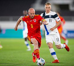 HELSINKI, FINLAND - Thursday, September 3, 2020: Wales' Jonathan Williams during the UEFA Nations League Group Stage League B Group 4 match between Finland and Wales at the Helsingin Olympiastadion. (Pic by Jussi Eskola/Propaganda)
