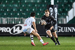 Will Talbot-Davies of Dragons in action during todays match<br /> <br /> Photographer Craig Thomas/Replay Images<br /> <br /> Guinness PRO14 Round 7 - Dragons v Zebre - Saturday 30th November 2019 - Rodney Parade - Newport<br /> <br /> World Copyright © Replay Images . All rights reserved. info@replayimages.co.uk - http://replayimages.co.uk
