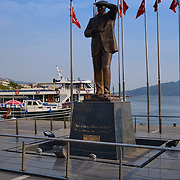Statue of Kemal Ataturk in Marmaris, Turkey