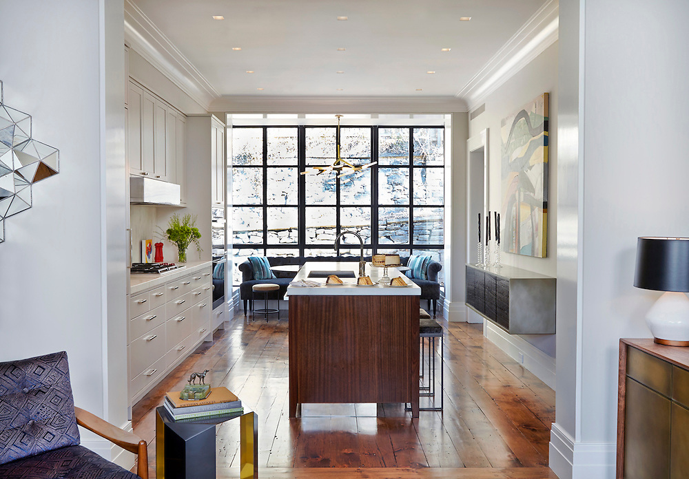Brooklyn Brownstone Interiors. Brooklyn Heights Town House. Master bedroom and guest bedroom. Architect: CWB Architects. Designer: CWB Architects