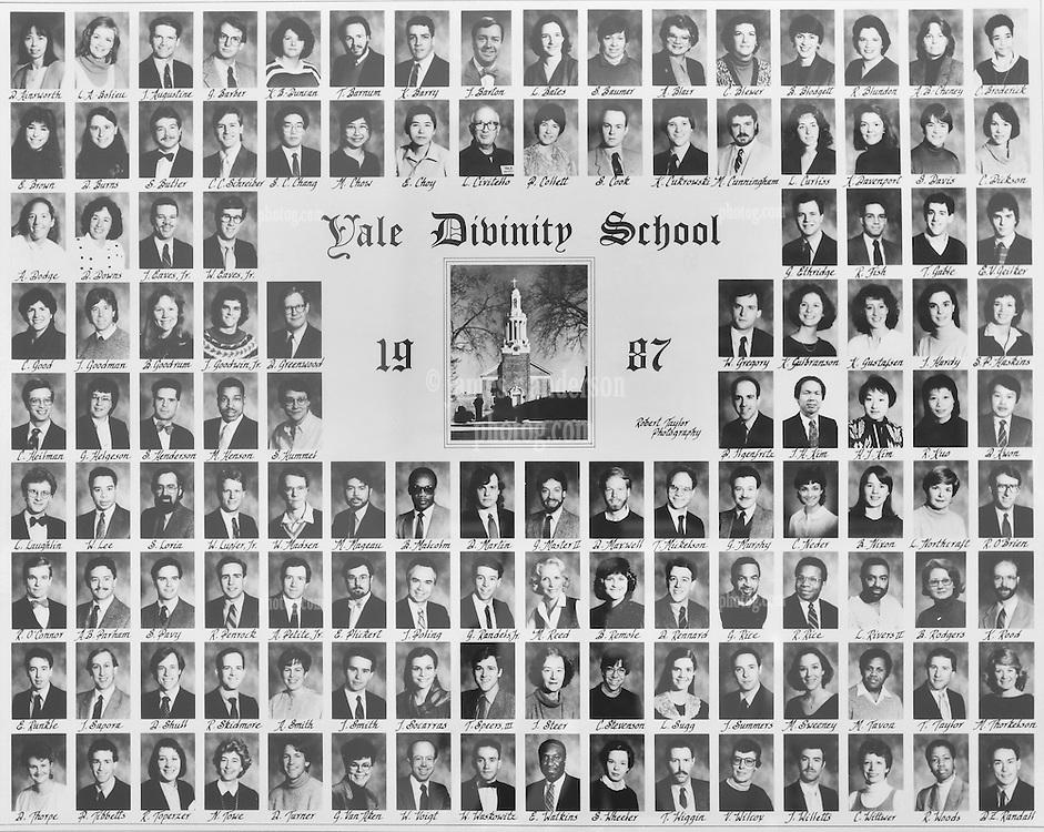1987 Yale Divinity School Senior Portrait Class Group Photograph