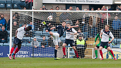 Dundee's Declan Gallagher shots.<br /> Dundee 0 v 1 Falkirk, Scottish Championship game played today at Dundee's Dens Park.<br /> © Michael Schofield.
