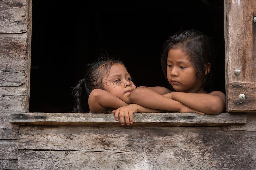 Wai Wai Children<br /> Wai Wai territory, region 9<br /> Gunns<br /> Konashen<br /> GUYANA<br /> South America<br /> Ina Kabi & Unika Flimina