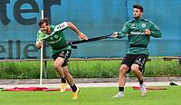 BILDET INNGÅR IKKE I NOEN FASTAVTALER OG ALL BRUK BLIR FAKTURERT <br /> <br /> Fotball<br /> Tyskland<br /> Foto: imago/Digitalsport<br /> NORWAY ONLY<br /> <br /> 13.07.2015 - Fussball - 2. Bundesliga - Saison 2015 2016 - SpVgg Greuther Fürth Fuerth - Training Trainingslager Saalfelden - / - Zlatko Tripic (17, SpVgg Greuther Fürth ) und Jurgen Gjasula (8, SpVgg Greuther Fürth , rechts )