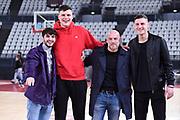 Giacomo Ferrara Amar Alibegovic Filippo Nigro<br /> Virtus Roma - Givova Scafati<br /> Campionato Basket LNP 2018/2019<br /> Roma 14/04/2019<br /> Foto Gennaro Masi / Ciamillo-Castoria