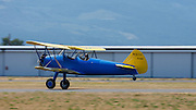 Stearman Model 70, prototype of the famous PT-13, PT-17 series, on takeoff.